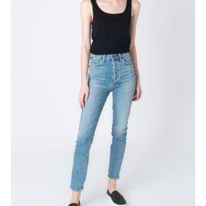 COH Olivia High-Waisted Distressed Slim Jean 32